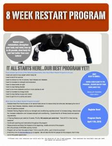 8 Week Restart Program Promo Sheet PDF