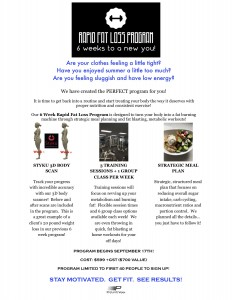 6 WEEK RAPID FAT LOSS PROMO POSTER